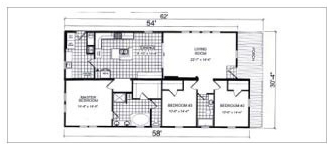 784, Floorplan, Manufactured Homes in Paris, TN