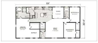 3468, Floorplan,  Manufactured Homes in Paris, TN