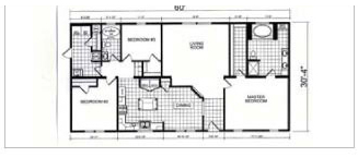 3264, floorplan,  Manufactured Homes in Paris, TN