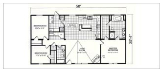 6232, Floorplan, Manufactured Homes in Paris, TN