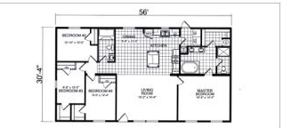 6032, Floorplan, Manufactured Homes in Paris, TN