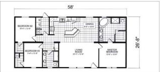 420, Floorplan, Manufactured Homes in Paris, TN