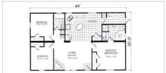 114, Floorplan, Manufactured Homes in Paris, TN