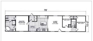 193, Floorplan, Manufactured Homes in Paris, TN