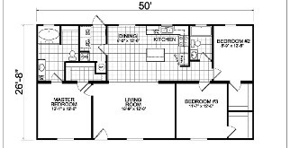 2807, Floorplan, Manufactured Homes in Paris, TN