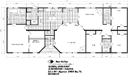 DV8407, Floor Plan, Manufactured Homes in Paris, TN